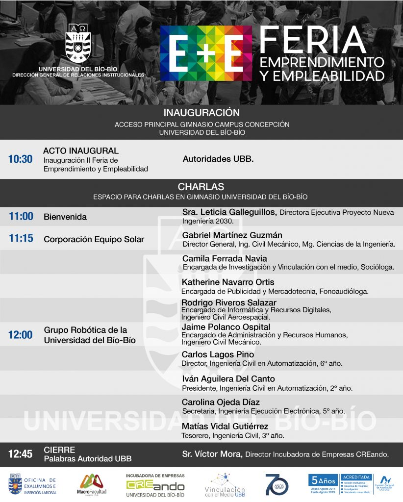 Programa de Charlas Feria E+E